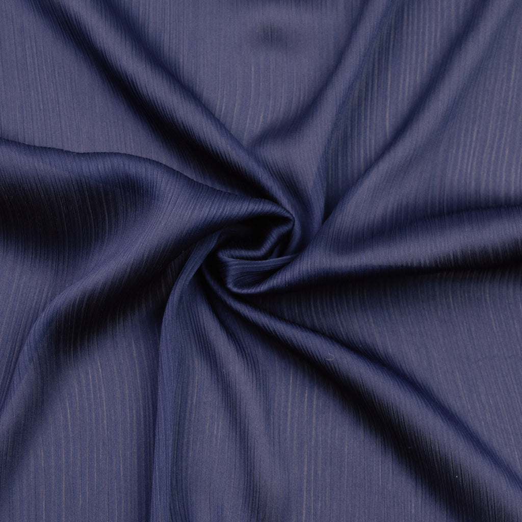 Cady Navy Textured Polyester