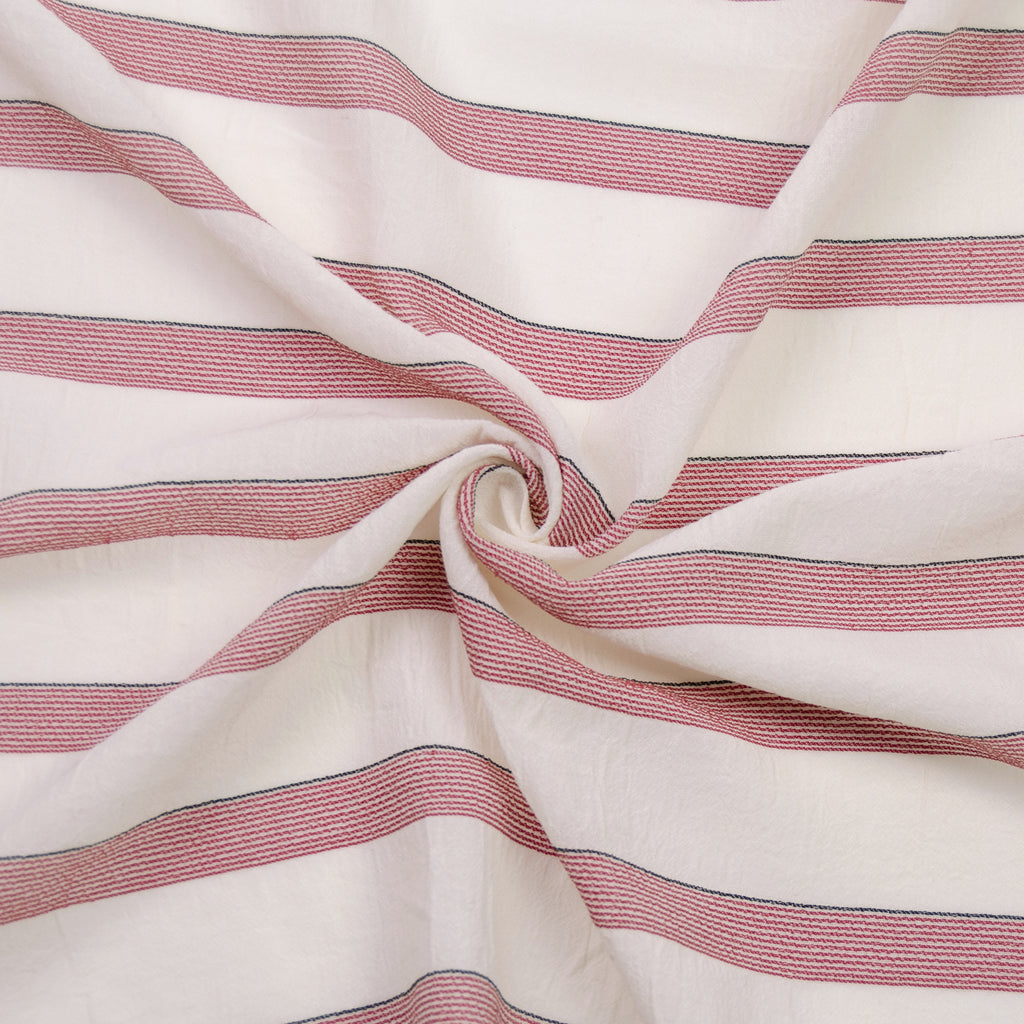 Caesar Red Striped Rayon Cotton