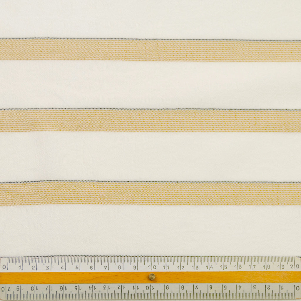 Caesar Gold Striped Rayon Cotton