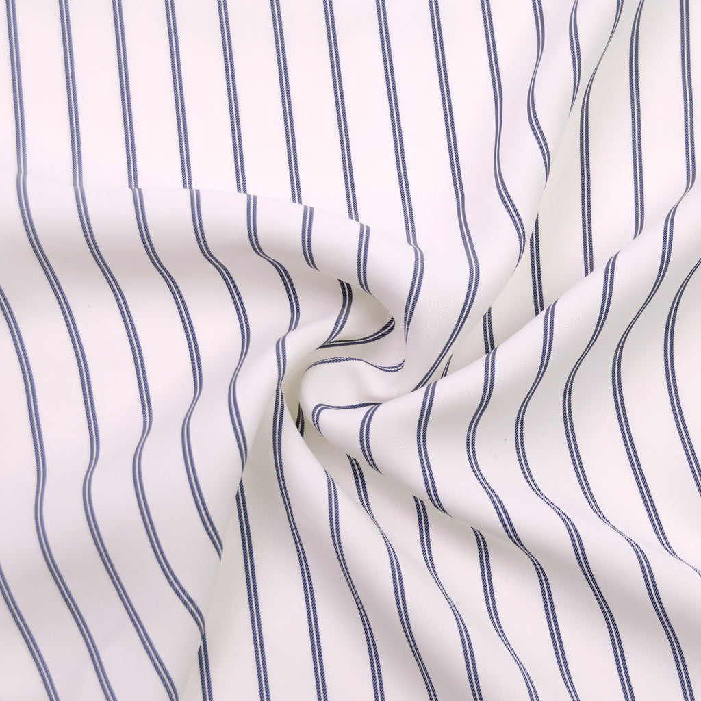 Caitlyn Blue White Striped Viscose