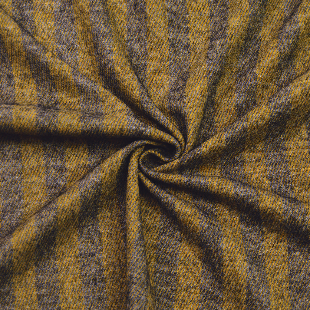 Chiara Yellow Grey Striped Knit Wool Blend