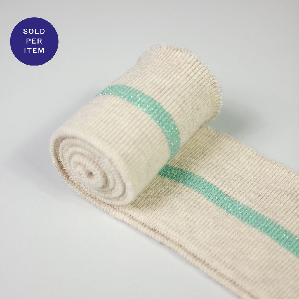 Nora Light Blue Organic Cotton Rib Knit Cuff