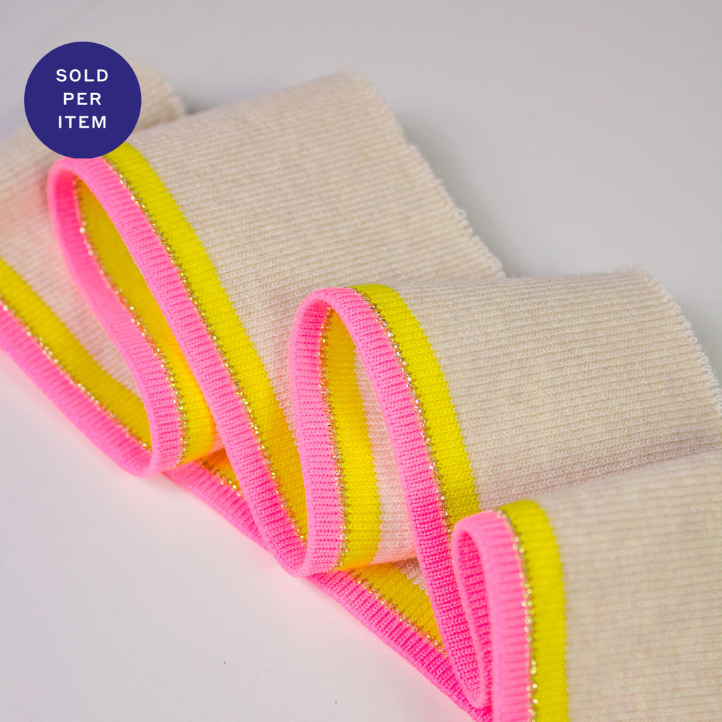 Jill Pink & Yellow Organic Cotton Rib Knit Cuff
