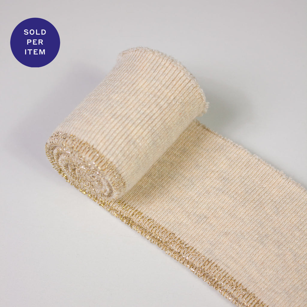 Wendy Light Gold Organic Cotton Rib Knit Cuff