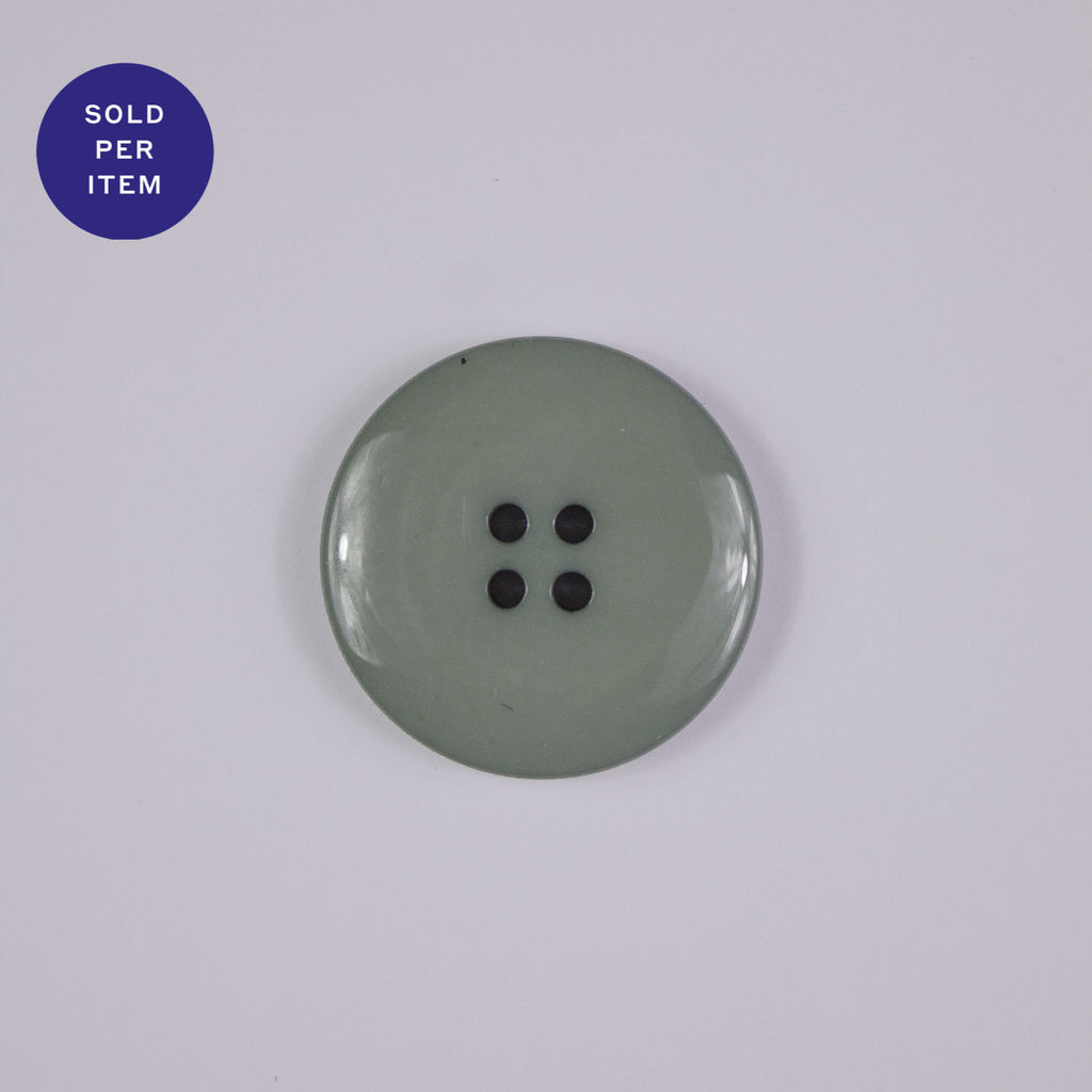 Mint 4-Hole Plastic Button Glossy
