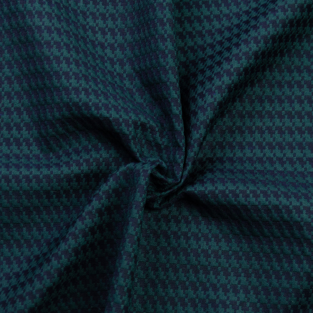 Riggs Green Houndstooth Cotton Blend