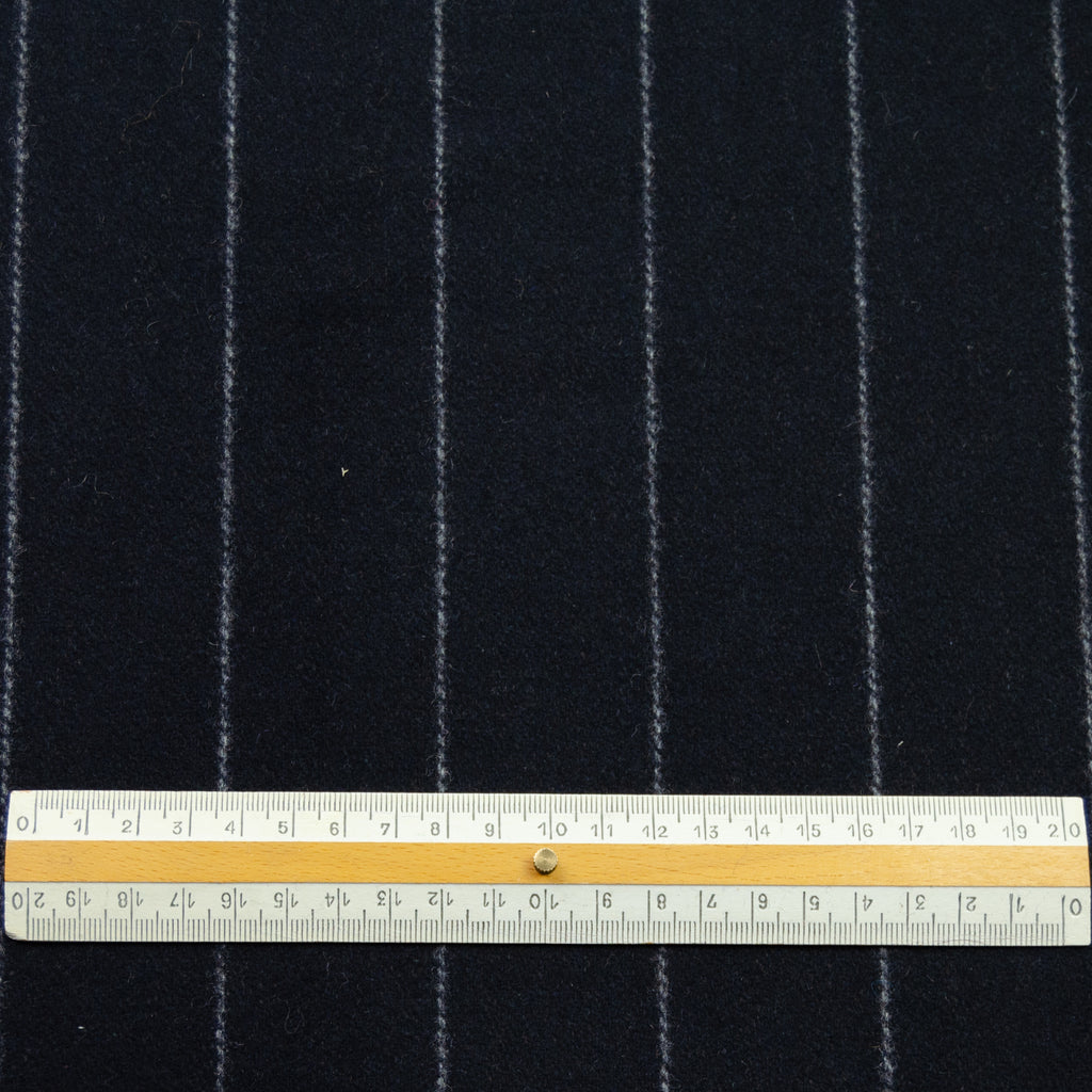 Ramone Navy Pin Stripe Wool