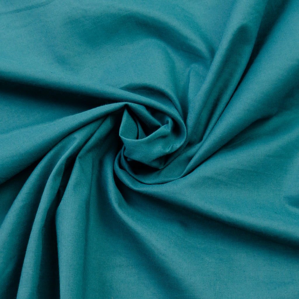 Rupert Green Turquoise Cotton Poplin