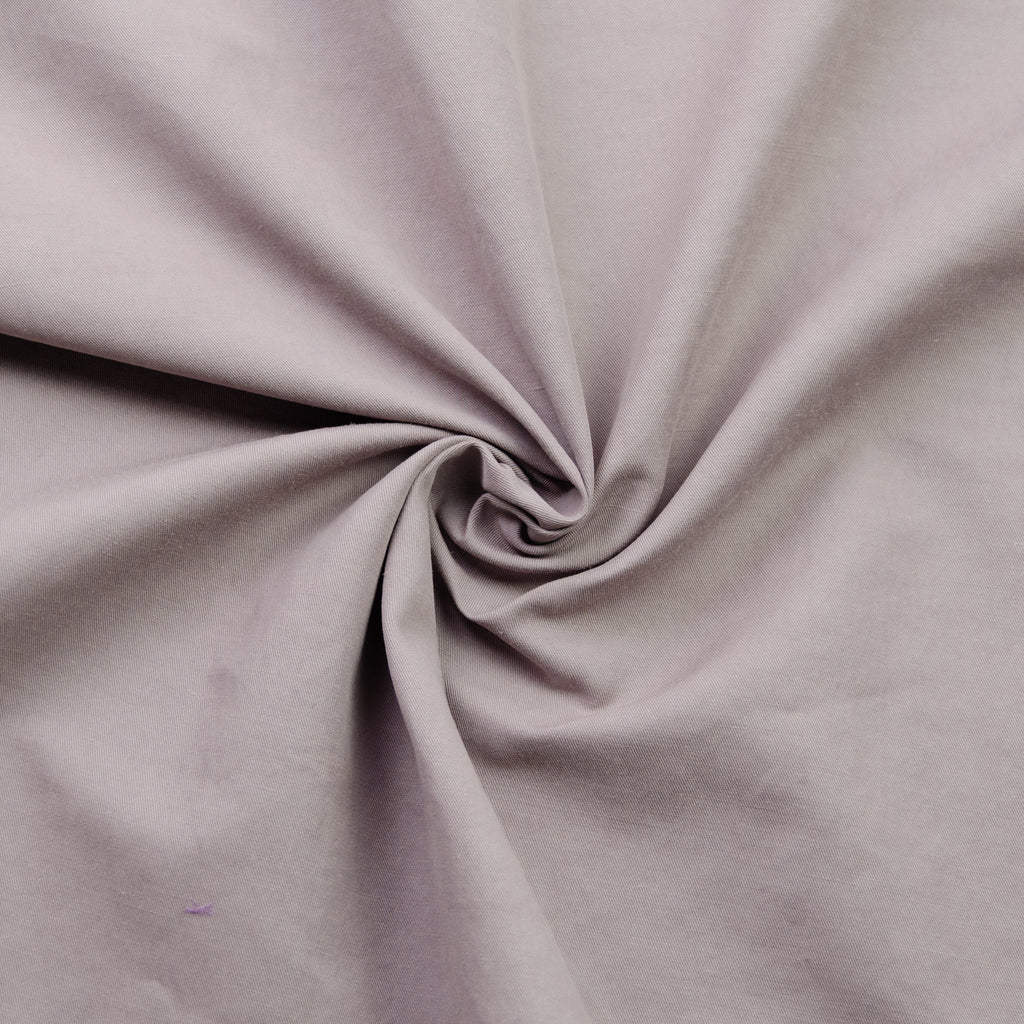 Rahat Mauve Wrinkled Cotton & Viscose Blend Gabardine