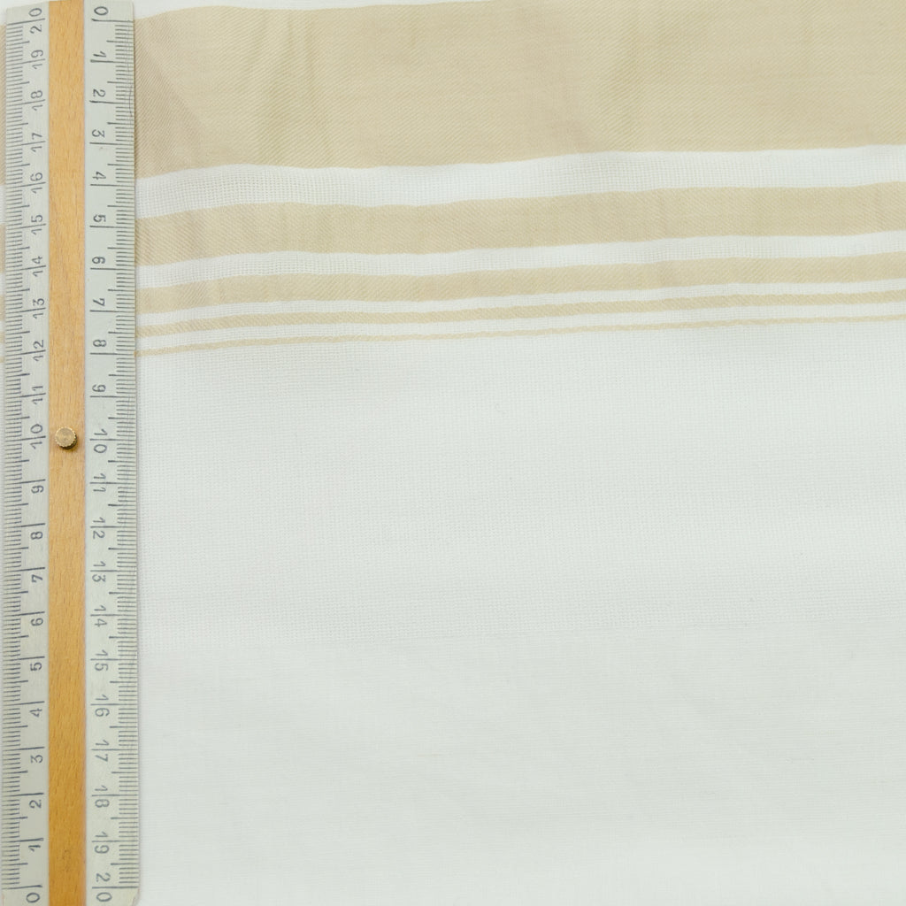 Rahima Off-white Beige Striped Linen