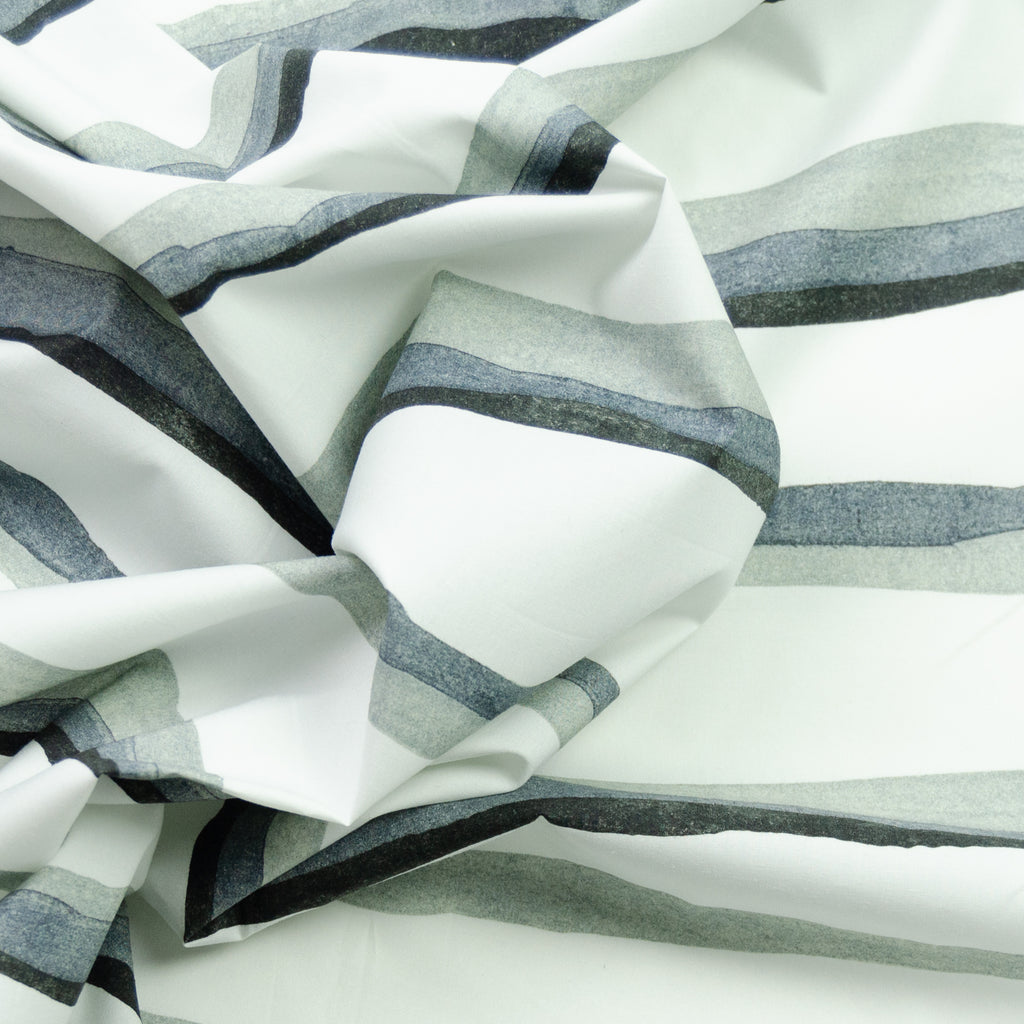 Rafe Striped Grey Cotton
