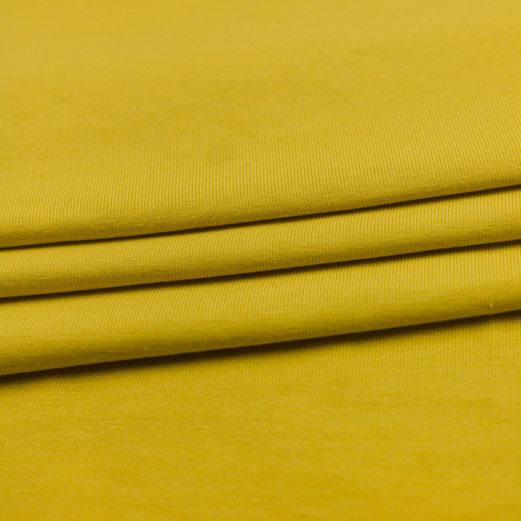 Taiki Yellow Viscose Jersey