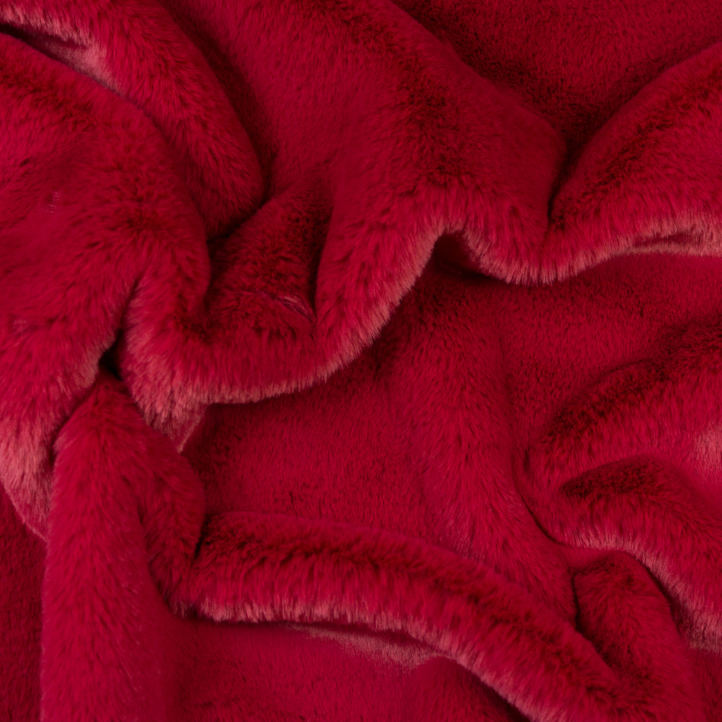 Muriel Raspberry Fake Fur