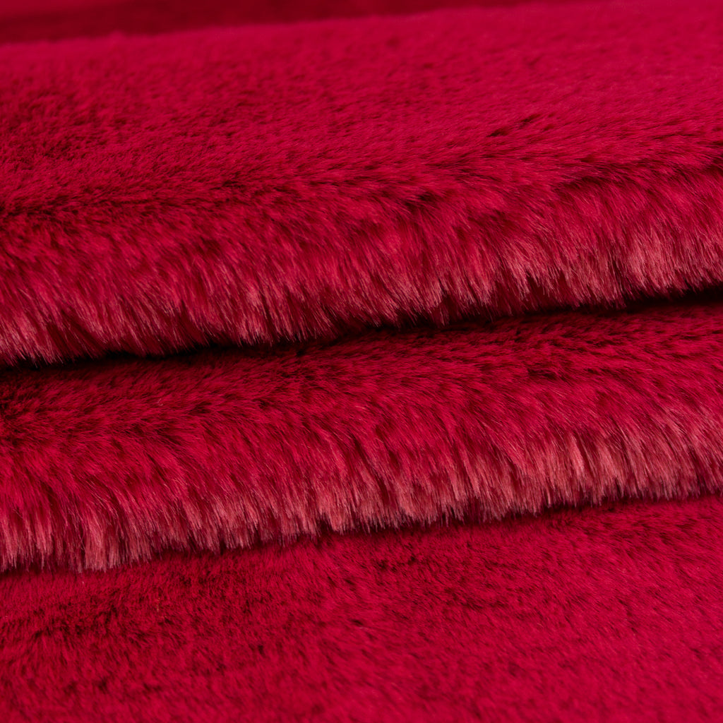 Muriel Raspberry Faux Fur