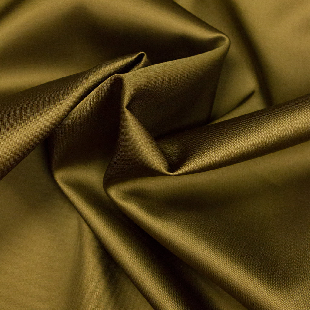 Tristany Green Satin Viscose Duchesse