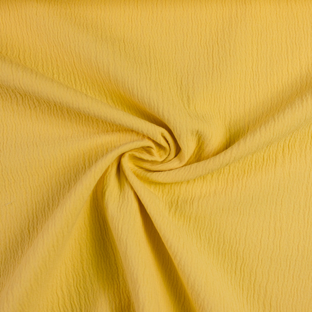 Corn Yellow Double Cotton Gauze Stretch