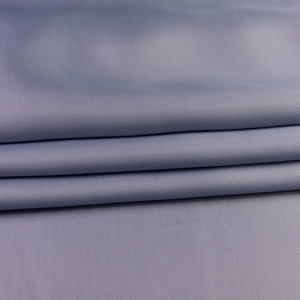 Dusty Blue Viscose & Silk Gabardine Lining