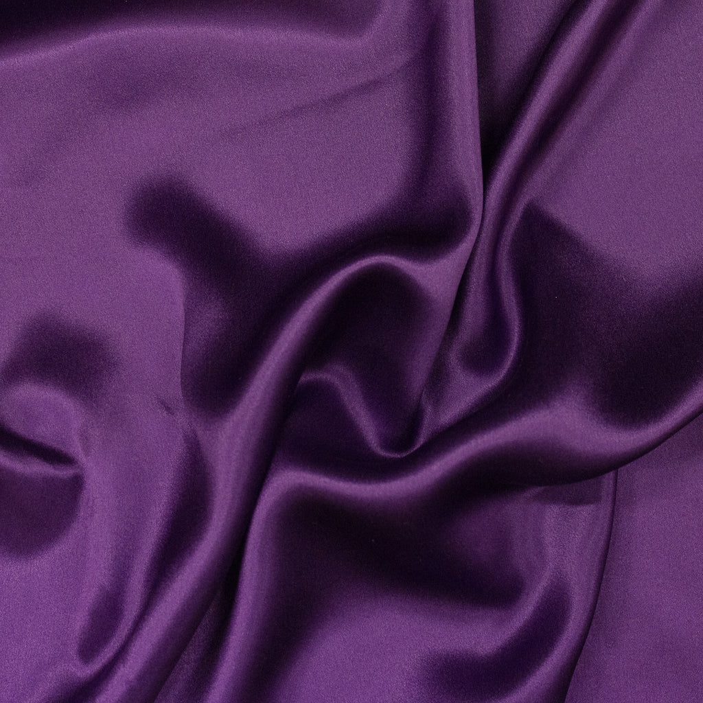 Rosas Purple Silk Satin