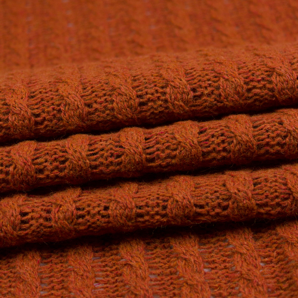 Brooklyn Rust Wool Knit