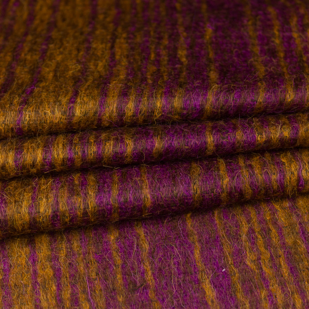 Isabella Ochre and Purple Mohair Blend