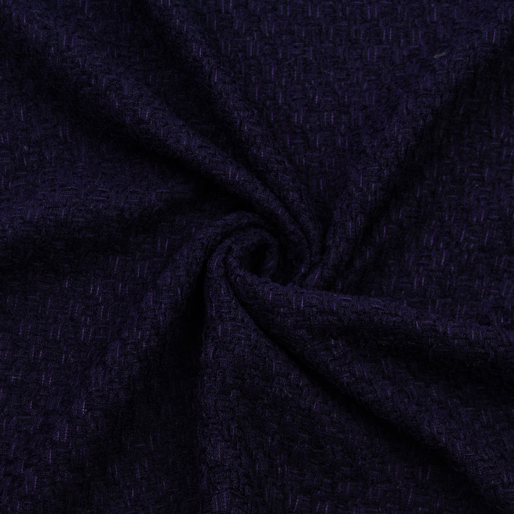 Sakina Blue Purple Polyester Tweed