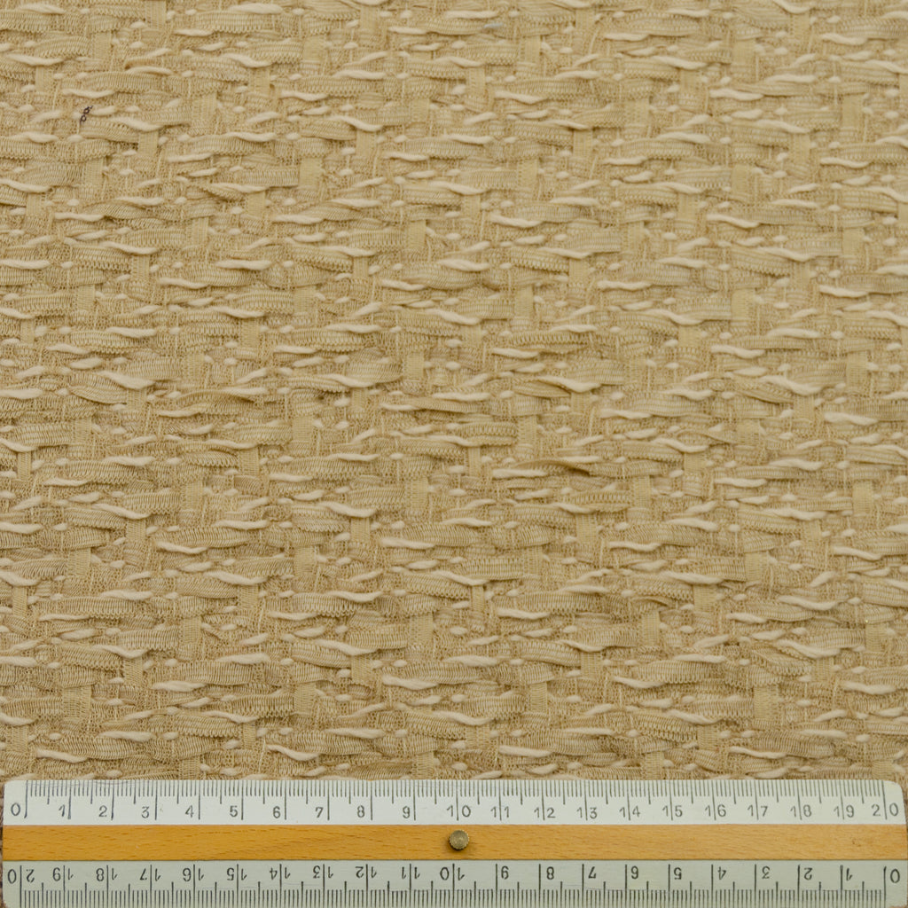 Wane Sand Cotton Wool Tweed