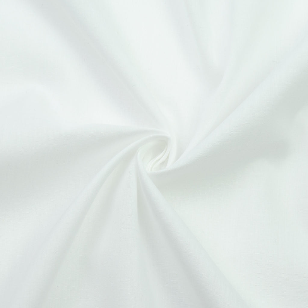Tiona White Cotton Voile