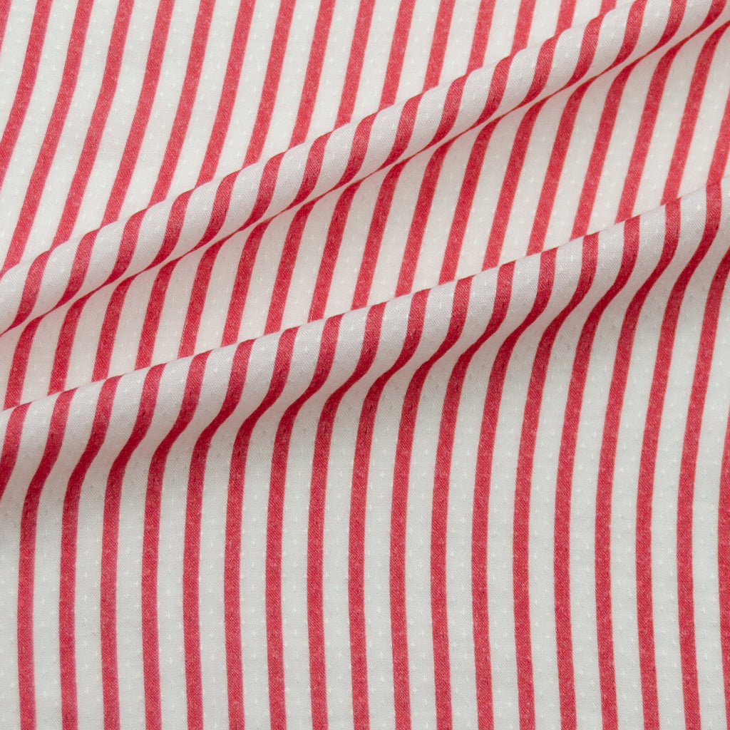 Tylie White&Red Striped Viscose