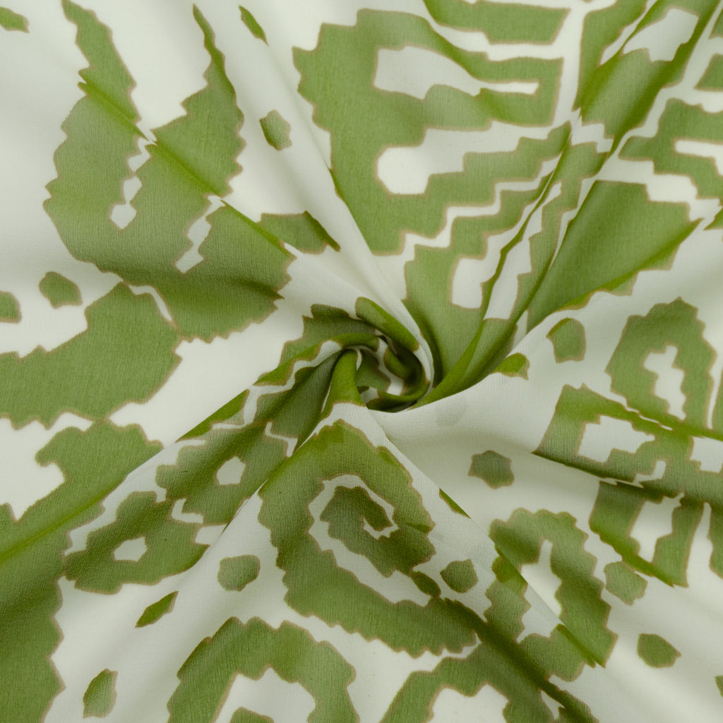 Tory Green Print Silk Voile