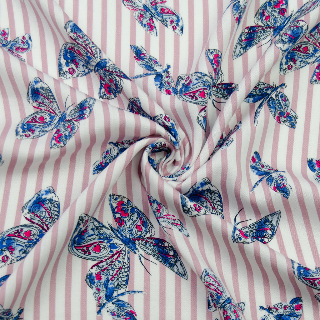 Saga Butterfly Printed Viscose