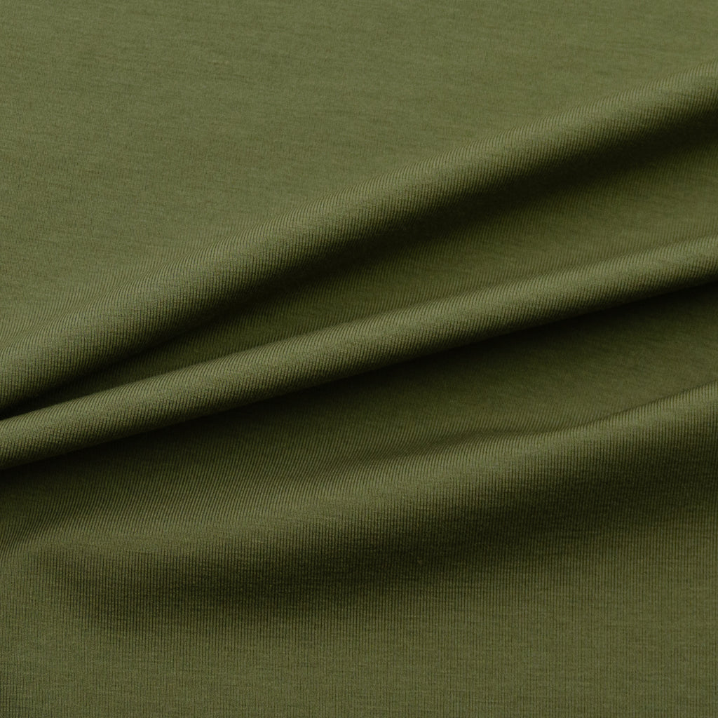 Dylan Khaki Green Cotton Jersey