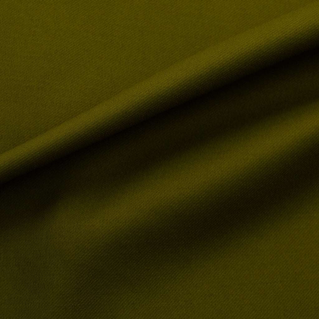 Tanav Olive Green Twill Virgin Wool