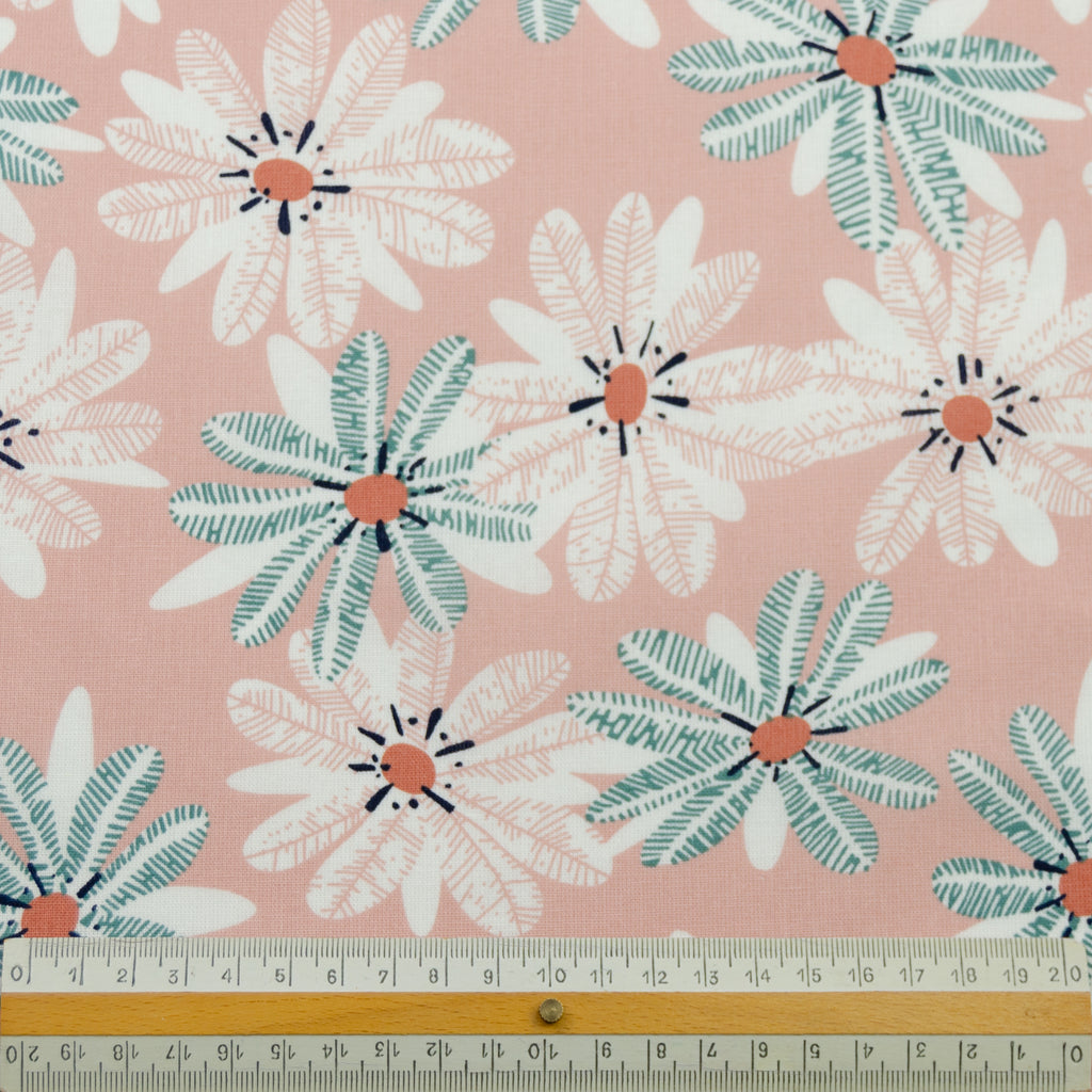 Trishna Pink White Floral Printed Cotton
