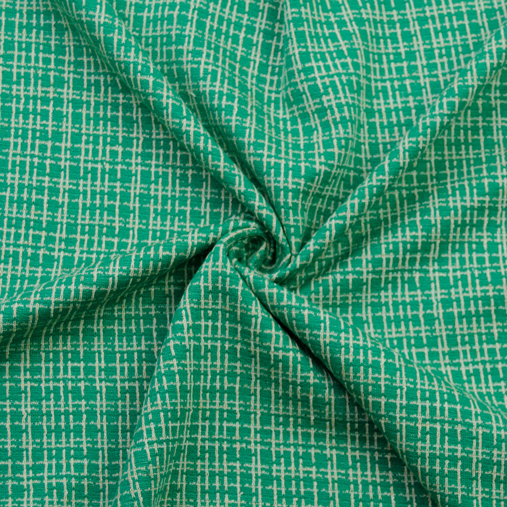 Sylvain Green Tartan Cotton Jersey