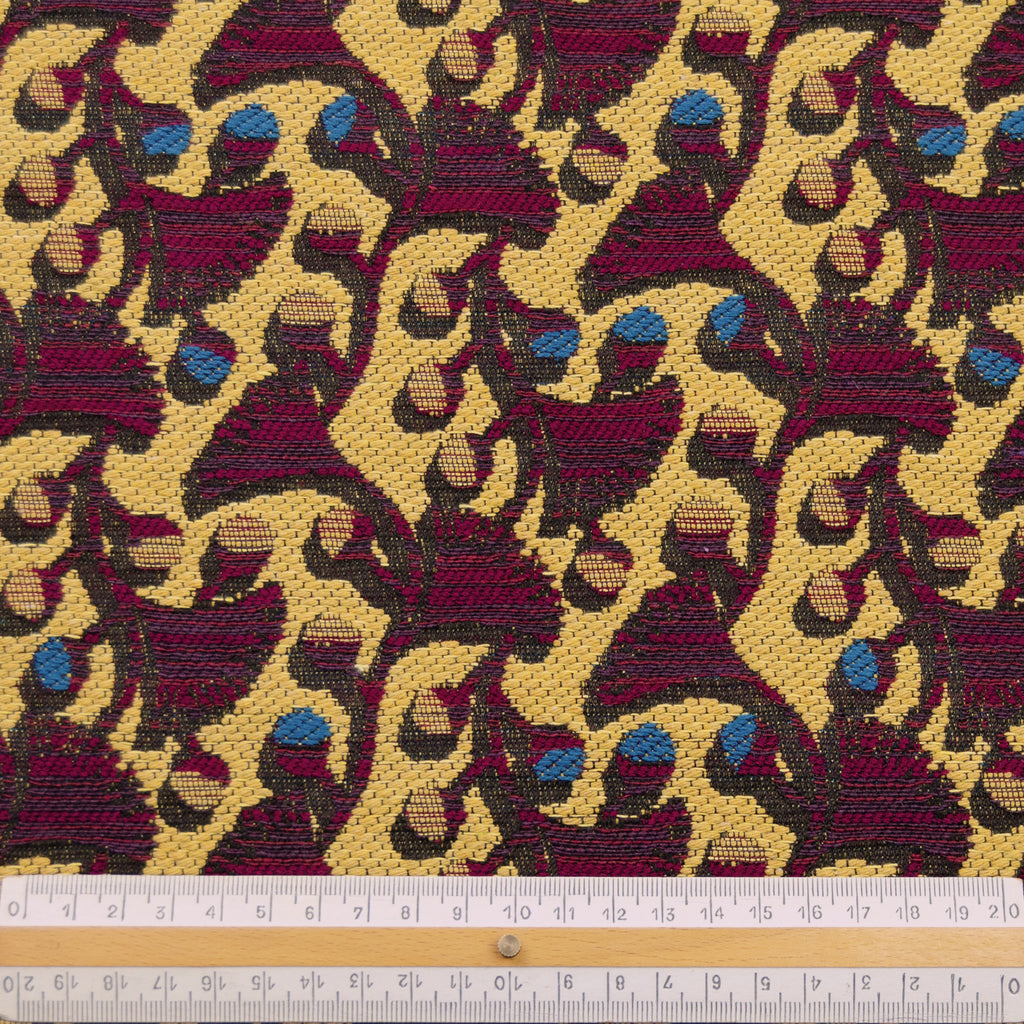 Twi Yellow Purple Cotton Jacquard