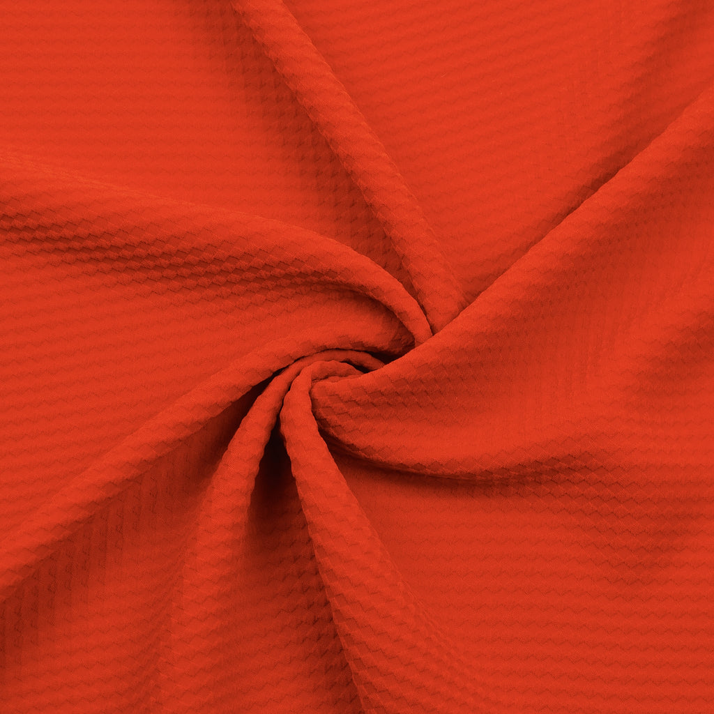 Tomai Red Textured Viscose Polyester Blend
