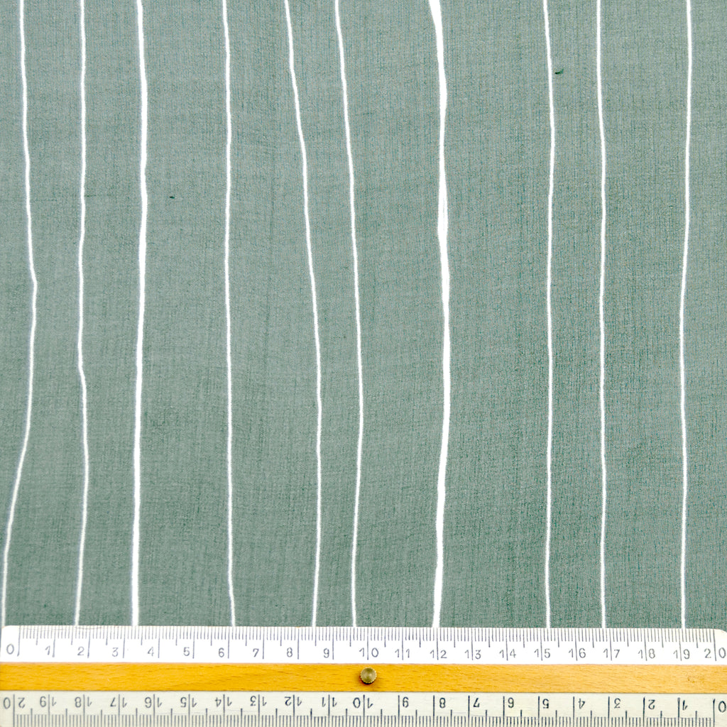 Frances Forest Green Stripe Silk Chiffon