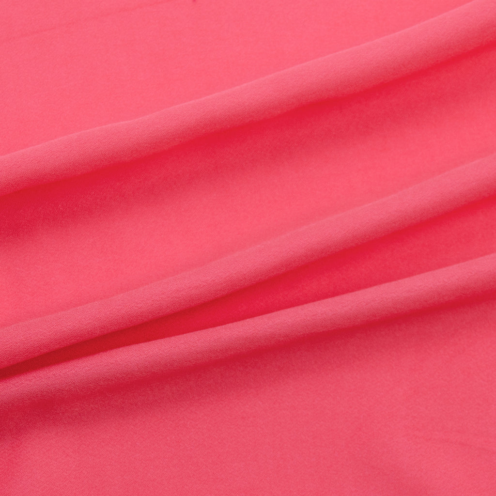 Tiva Coral Pink Viscose Voile