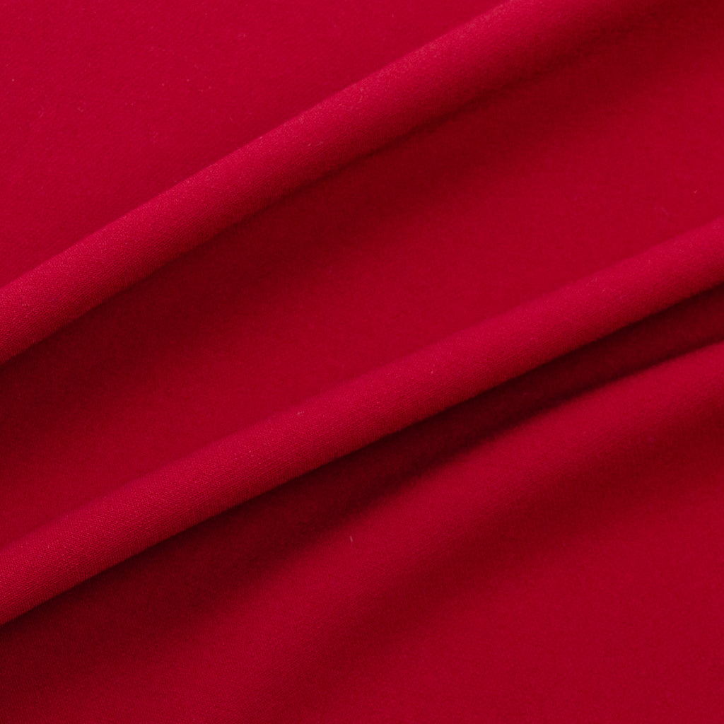 Tomoka Ruby Red Stretch Viscose Blend Crepe