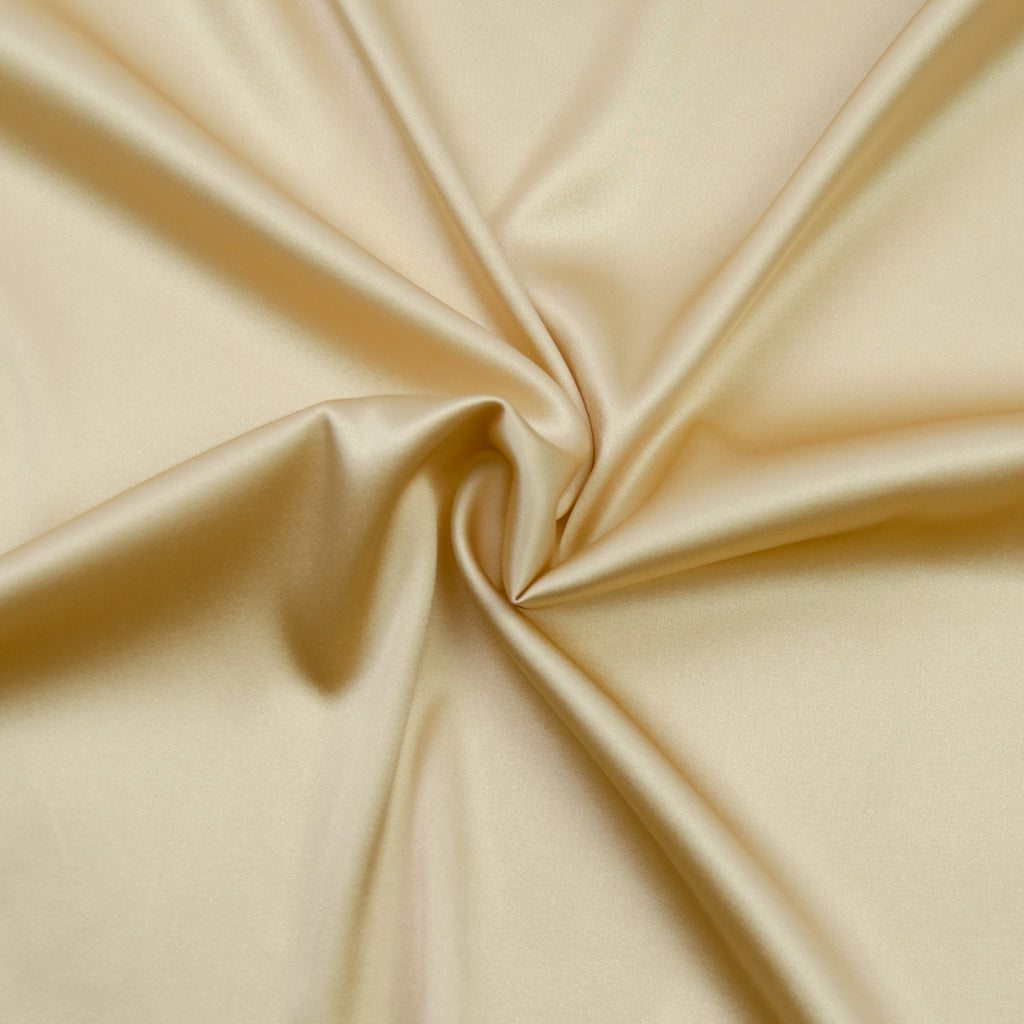 Tamasine Champagne Silk Satin Stretch