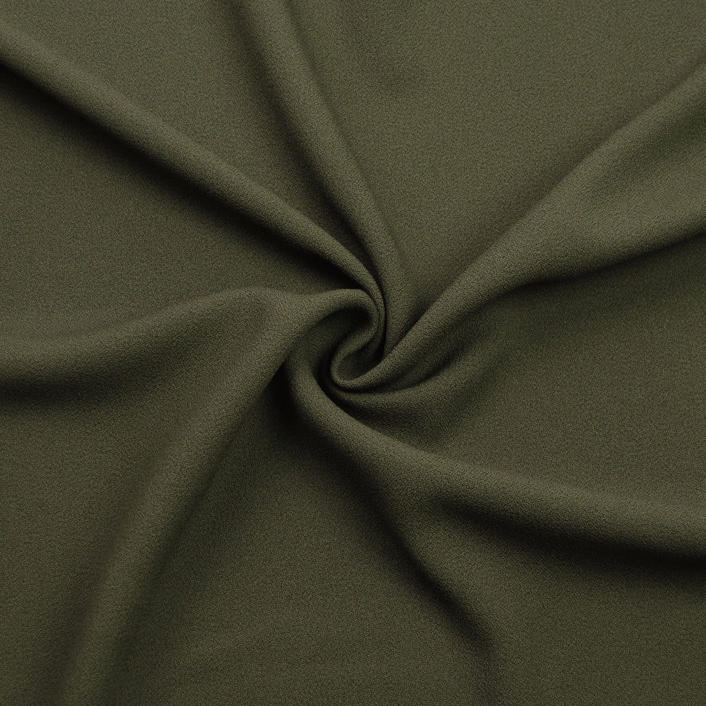 Saburou Army Green Viscose Crepe