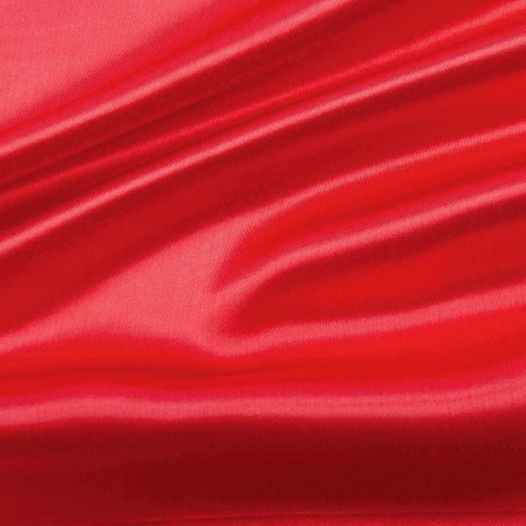 Salazar Coral Red Viscose Satin