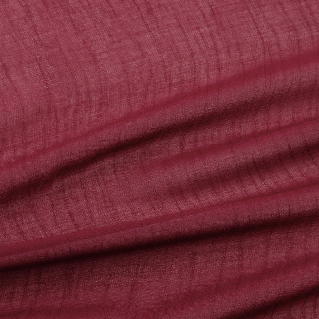 Tarmon Burgundy Red Viscose Voile
