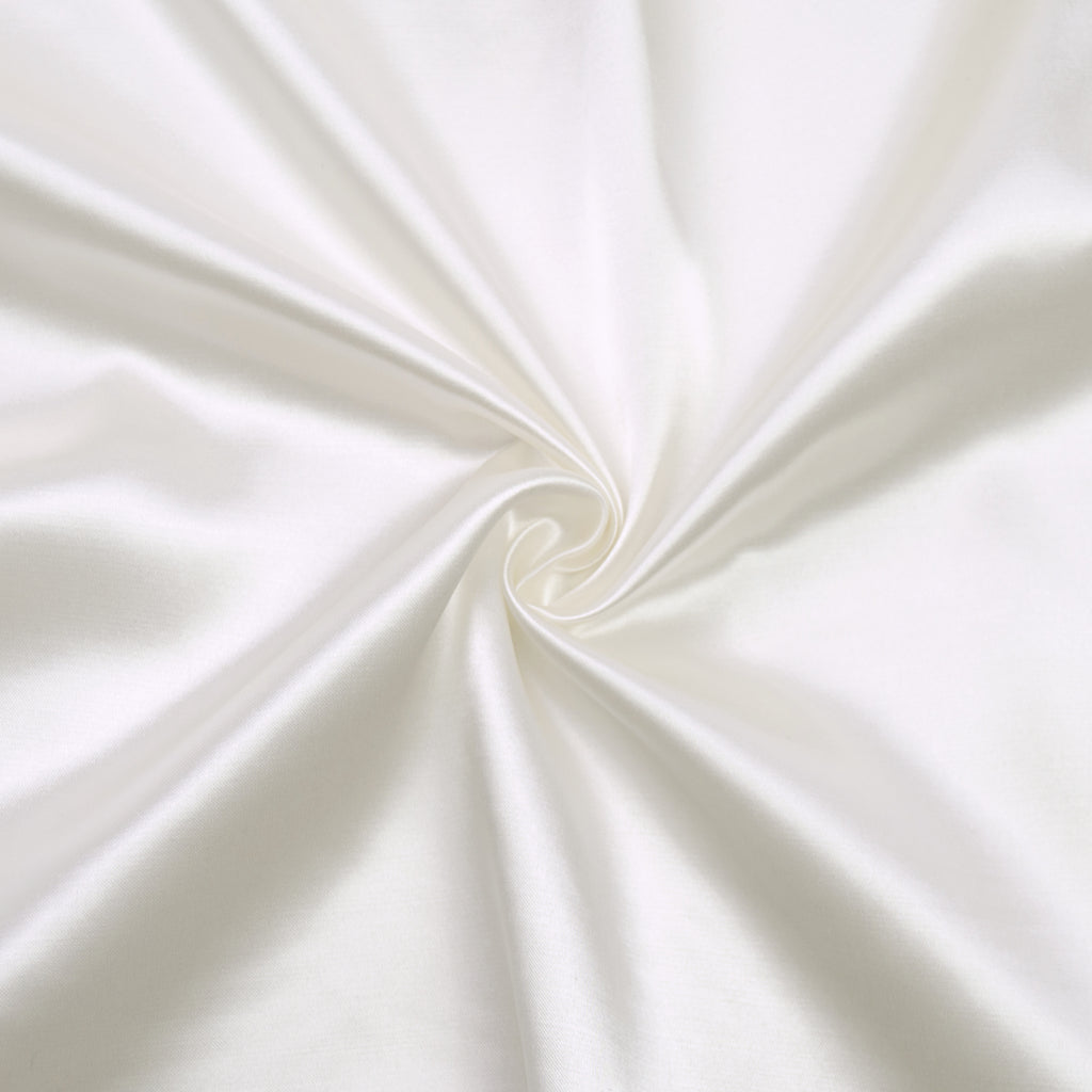 Trella Off White Satin Viscose
