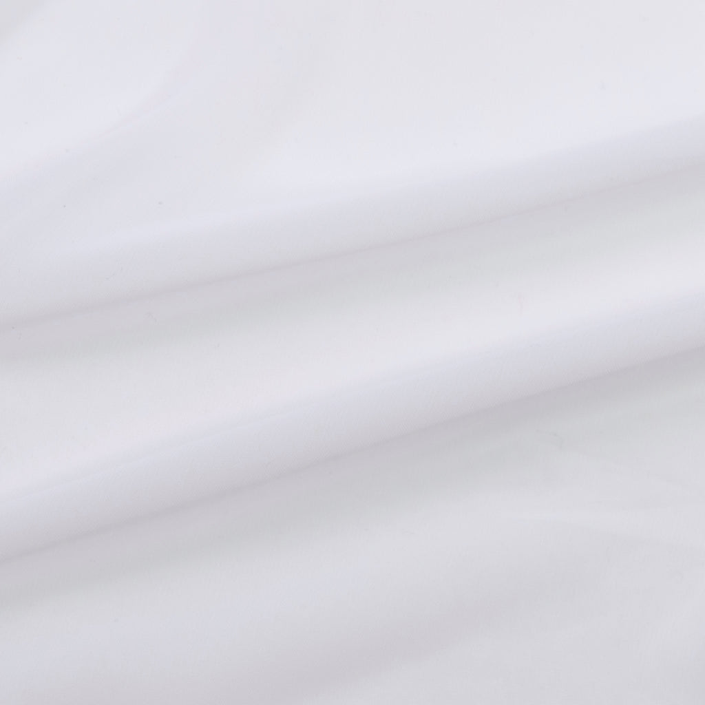 Temima White Polyester Voile
