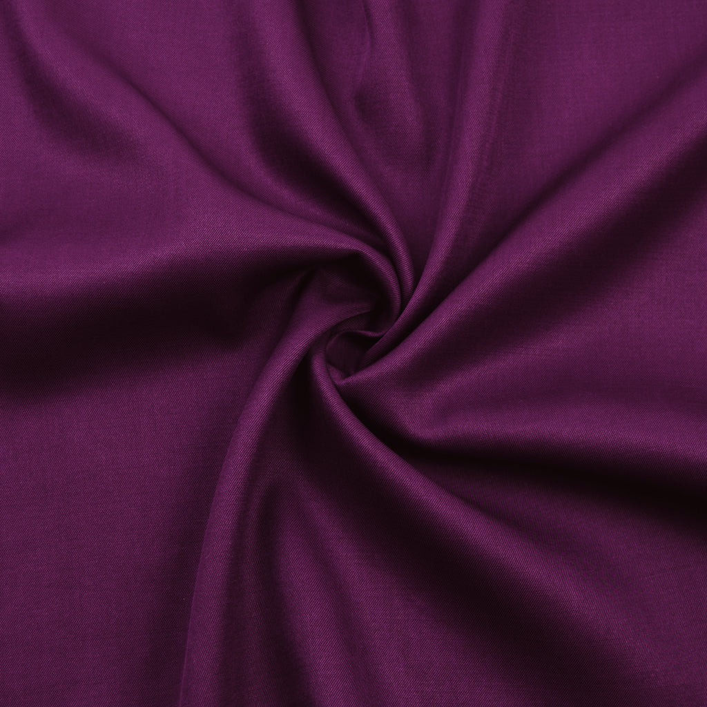 Sakina Purple Wool Gabardine
