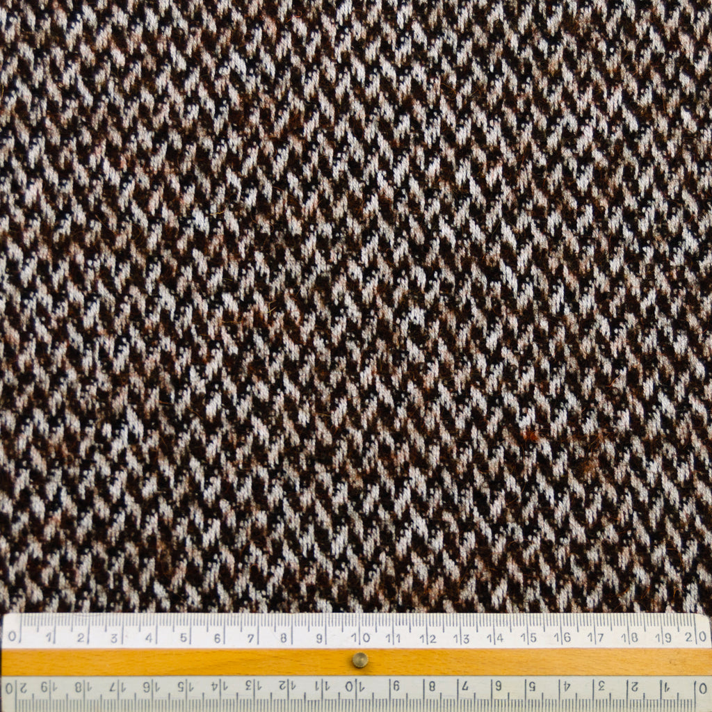 Toviel Brown White Graphic Wool