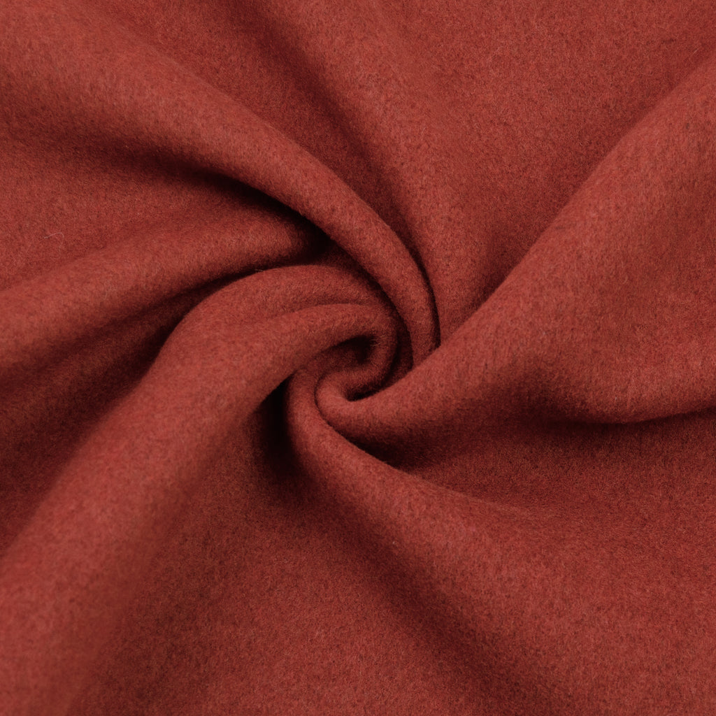 Aurora Rust Double Face Wool Blend