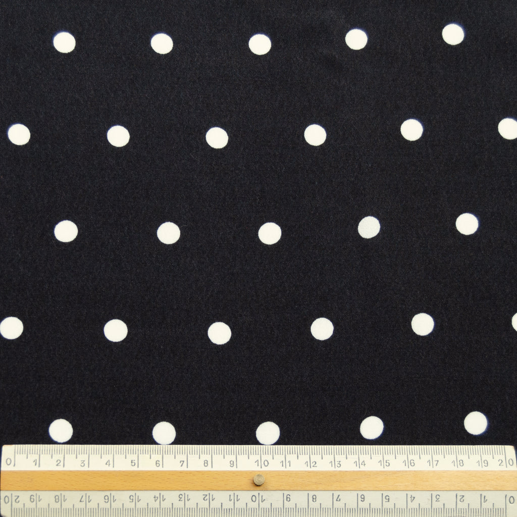 Jaden Black & White Polka Dot Printed Viscose