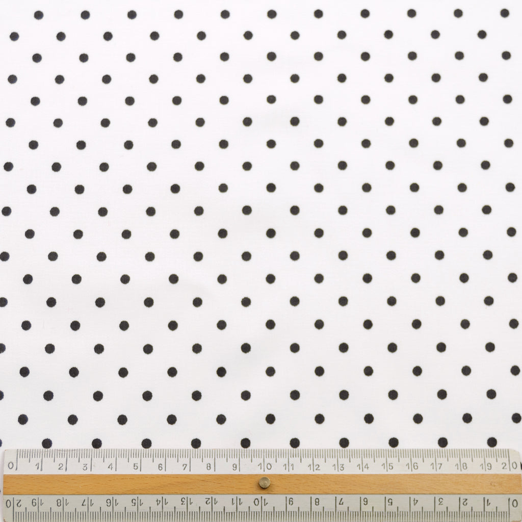 Jania Black Polka Dot Stretch Cotton